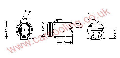 Compressor Vauxhall Omega - B    1854104
