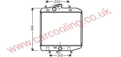 Radiator Daihatsu Charade 16400-87F11
