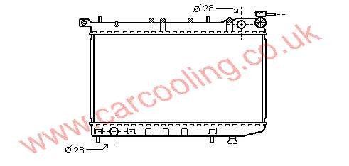 Radiator Nissan Sunny IV    21410-62C01