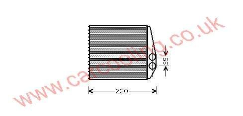 Heater Matrix Saab 9-3    93171801