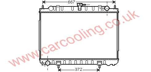 Radiator Nissan X - Trail 21410-8H801