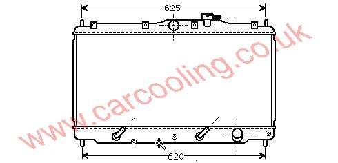 Radiator Honda Accord V    19010-POA-902