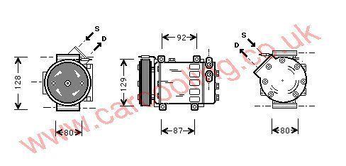 Compressor Renault Clio II    7700111235
