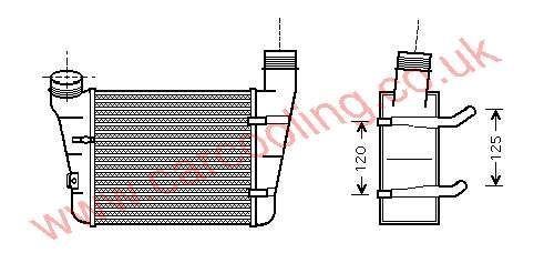Intercooler Audi A4 II    8E0.145.805 F / S