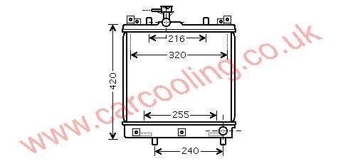 Radiator Suzuki alto    17700-79F02 / 79F14