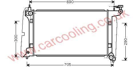 Radiator Toyota Corolla VIII    16400-0D210