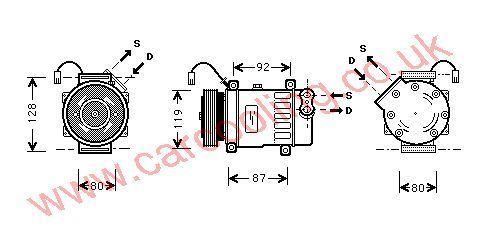 Compressor Peugeot 406 II    6453JF