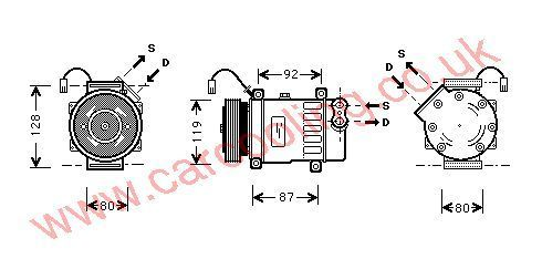 Compressor Peugeot 807    6453JF