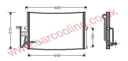 Condenser Opel Vectra - B 1850065 - 52485274