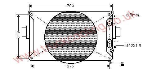 Radiator Iveco Daily III    93825378