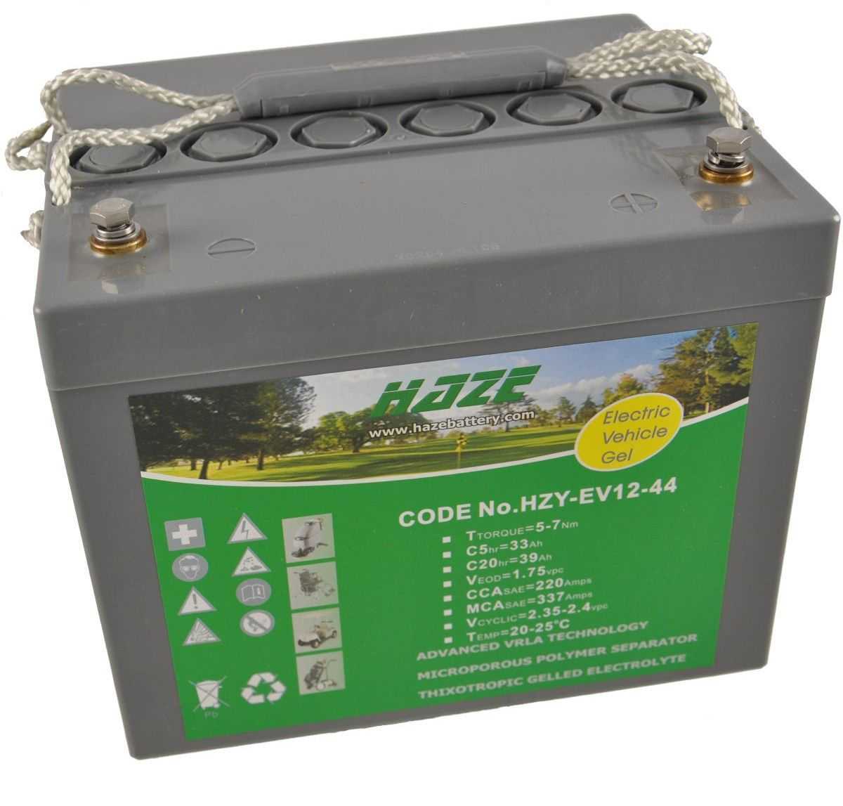 12V 45Ah HAZE GEL Mobility Scooter & Powerchair Battery HZY12-44EV