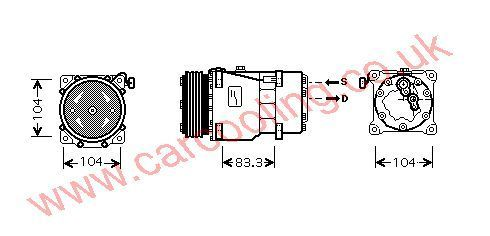 Compressor Lancia Phedra    6453LQ