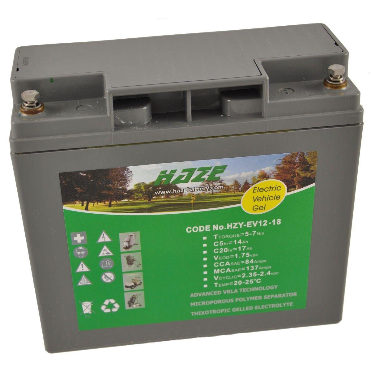12V 18Ah HAZE GEL Mobility Scooter & Powerchair Battery HZY12-18EV