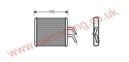 Heater Matrix Kia Rio I    OK30C-61-A10