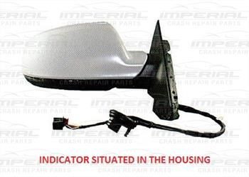 AUDI A3 3 DOOR 10-12 DOOR MIRROR ELECTRIC HEATED POWER FOLD TYPE WITH PRIMED COVER (2010-2012) AU199ACDCR