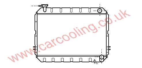 Radiator Toyota Landcruiser II    16400-68100