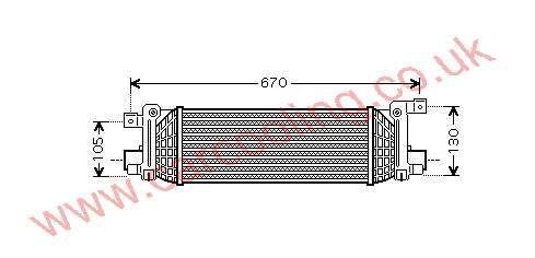 Intercooler Ford Fiesta V    5S6H 9L440 AB / AC /