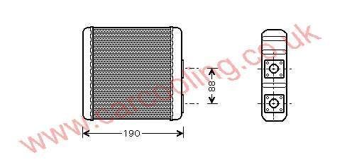 Heater Matrix Nissan Sunny IV    27140-6JH15