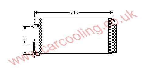 Condenser Vauxhall Corsa - D    1850168 - 55700408