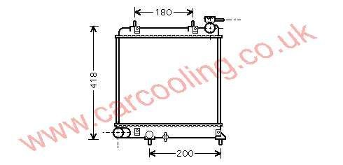 Radiator Hyundai Excel IV 25310-25050