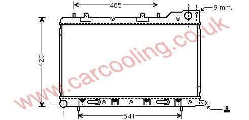 Radiator Subaru Forester 45111-SA010