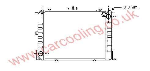 Radiator Toyota Hi-Ace III 16400-75071
