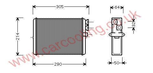 Heater Matrix Volvo 90 Series    9171503