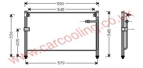 Condenser Mazda 626 IV    GC3N-61-480