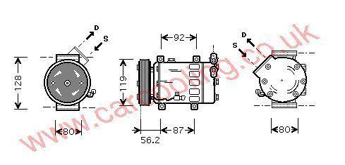 Compressor Citroen Xsara 6453JL