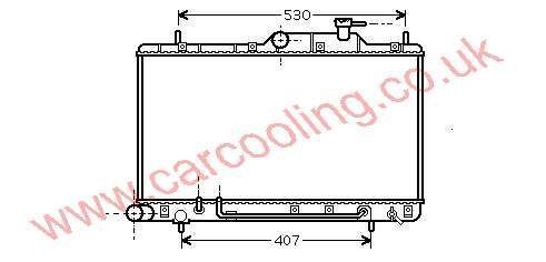 Radiator Hyundai Excel IV    25310-25150 / 25151