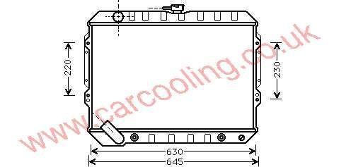 Radiator Mitsubishi Shogun I    MB 538806 / 660077