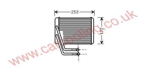 Heater Matrix Hyundai XG 97227-38900