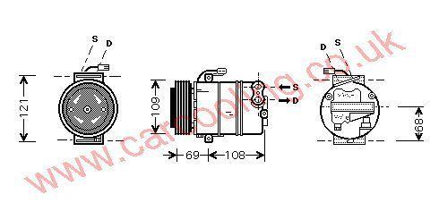 Compressor Opel Zafira    6854013