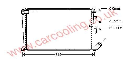 Radiator Citroen XM    96086712 / 713