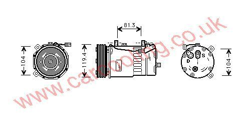 Compressor Seat Alhambra II    YM2H19D629BA