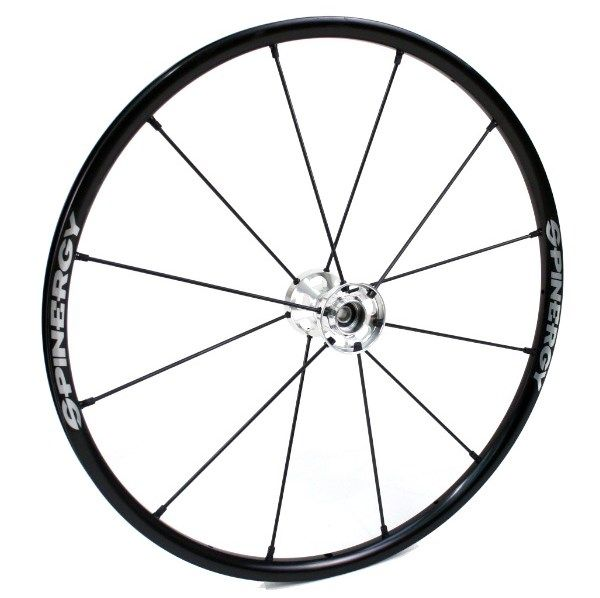 "24"" Spinergy LX Wheel - Black Rim, Silver Hub, 12 Spokes 21824U"