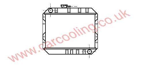 Radiator Ford Capri II    79EB 8005 HA / HB