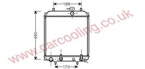 Radiator Daihatsu Cuore    16400-B2070