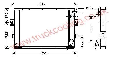 Radiator Iveco Daily II    93809326 / 93811592