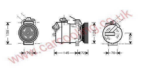 Compressor BMW 5-Series E39    64528363275