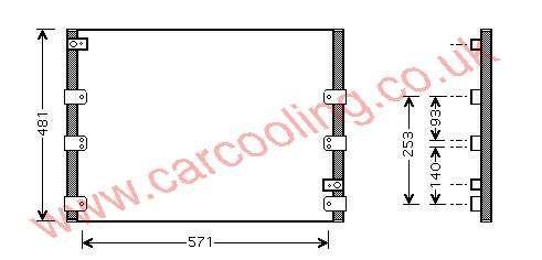 Condenser Toyota Landcruiser IV    88460-60240