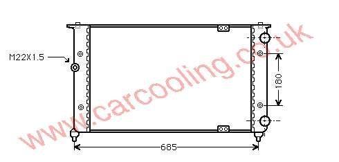 Radiator Seat Cordoba II    6K0.121.253 G