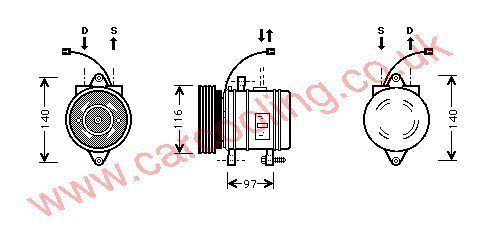 Compressor Hyundai Atos    9770102000
