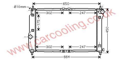 Radiator Daewoo Kalos    96536525