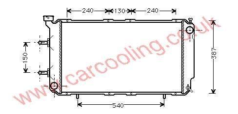 Radiator Subaru Legacy I 45199-AA100 / 120