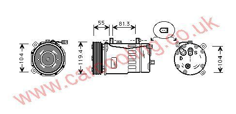 Compressor Seat Ibiza III    1J0820803F