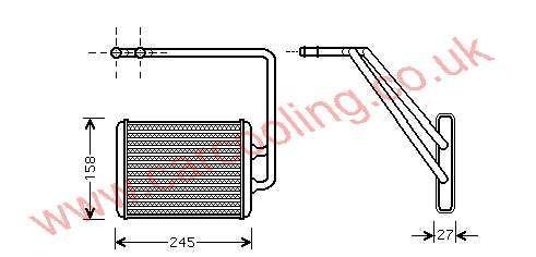 Heater Matrix Hyundai Lantra IV 97138-2D900