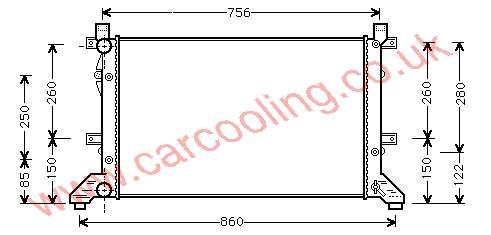 Radiator VW LT28-->LT35 III 2D0.121.253 E