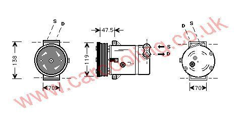 Compressor Vauxhall Vectra - B 1854091