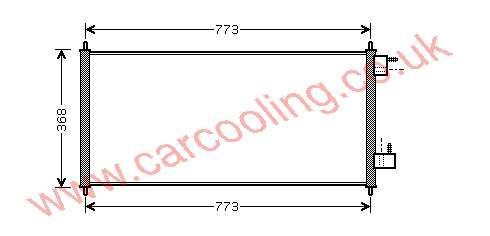 Condenser Ford Transit Connect 2T1H 19710 AB / AC
